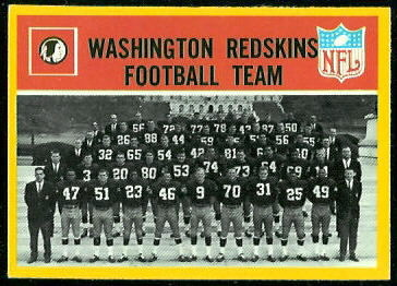Washington Redskins Team 1967 Philadelphia football card
