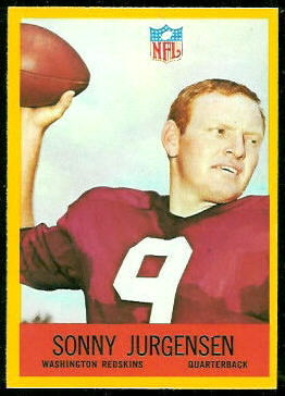 Sonny Jurgensen 1967 Philadelphia football card