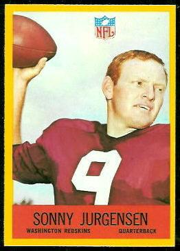 Sonny Jurgensen 1967 Philadelphia football card