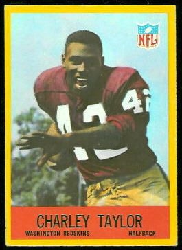 Charley Taylor 1967 Philadelphia football card