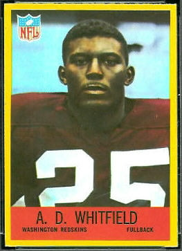 A.D. Whitfield 1967 Philadelphia football card