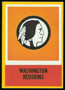 Redskins Logo 1967 Philadelphia football card