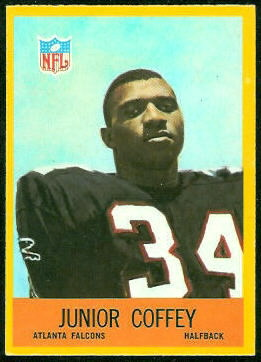 Junior Coffey 1967 Philadelphia football card