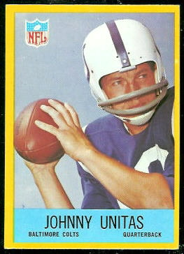 John Unitas 1967 Philadelphia football card