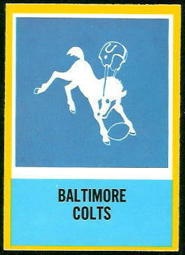 Colts Logo 1967 Philadelphia football card