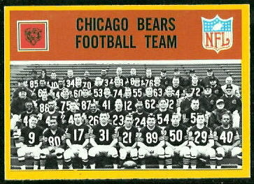 Chicago Bears Team 1967 Philadelphia football card
