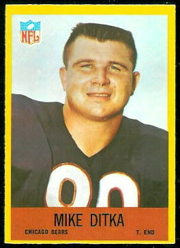 Mike Ditka 1967 Philadelphia football card