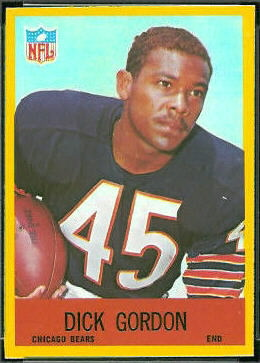 Dick Gordon 1967 Philadelphia football card