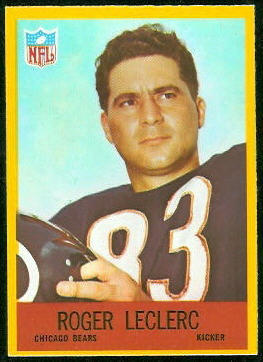 Roger LeClerc 1967 Philadelphia football card