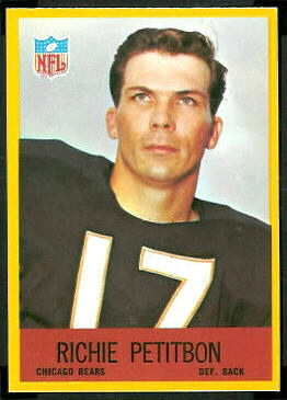 Richie Petitbon 1967 Philadelphia football card