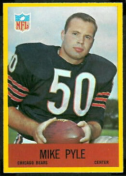 Mike Pyle 1967 Philadelphia football card