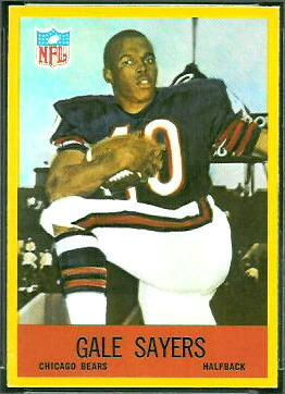 Gale Sayers 1967 Philadelphia football card