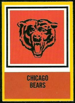 Bears Logo 1967 Philadelphia football card