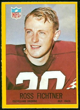 Ross Fichtner 1967 Philadelphia football card