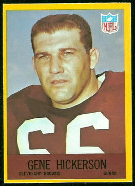 Gene Hickerson 1967 Philadelphia football card