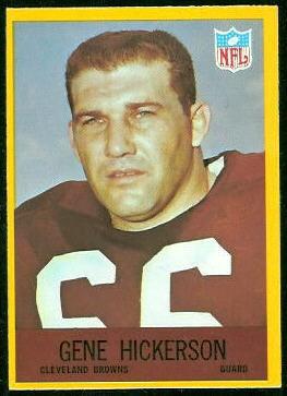 Gene Hickerson 1967 Philadelphia football card