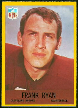 Frank Ryan 1967 Philadelphia football card