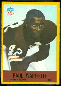 Paul Warfield 1967 Philadelphia football card