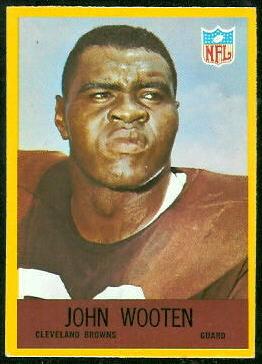 John Wooten 1967 Philadelphia football card