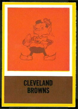 Browns Logo 1967 Philadelphia football card