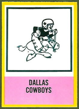Cowboys Logo 1967 Philadelphia football card