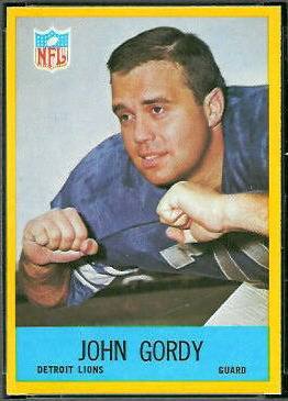 John Gordy 1967 Philadelphia football card
