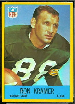 Ron Kramer 1967 Philadelphia football card