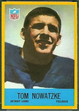 Tom Nowatzke 1967 Philadelphia football card
