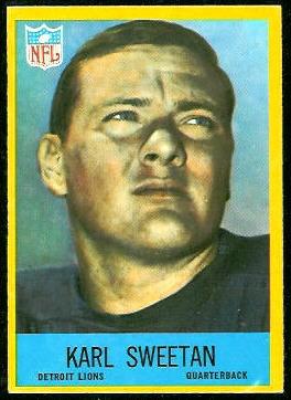 Karl Sweetan 1967 Philadelphia football card