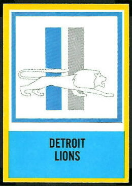 Lions Logo 1967 Philadelphia football card