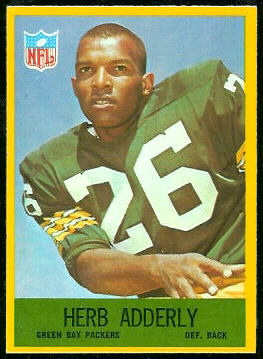 Herb Adderley 1967 Philadelphia football card