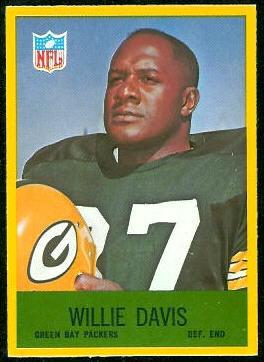 Willie Davis 1967 Philadelphia football card