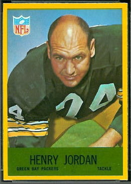 Henry Jordan 1967 Philadelphia football card