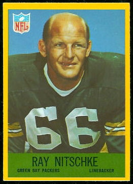 Ray Nitschke 1967 Philadelphia football card