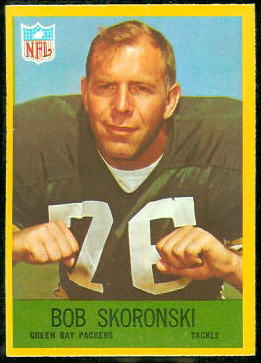 Bob Skoronski 1967 Philadelphia football card
