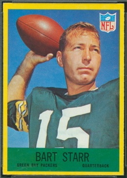 Bart Starr 1967 Philadelphia football card