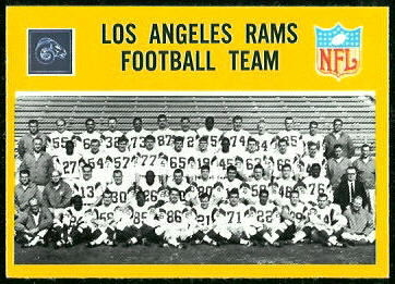Los Angeles Rams Team 1967 Philadelphia football card