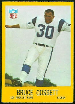 Bruce Gossett 1967 Philadelphia football card