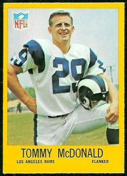 Tommy McDonald 1967 Philadelphia football card