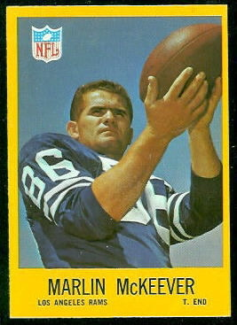 Marlin McKeever 1967 Philadelphia football card