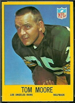 Tom Moore 1967 Philadelphia football card