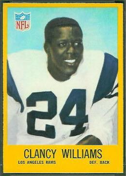 Clancy Williams 1967 Philadelphia football card