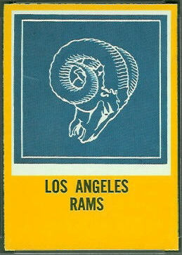 Rams Logo 1967 Philadelphia football card