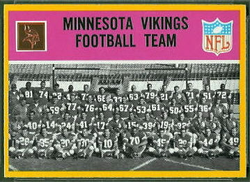 Minnesota Vikings Team 1967 Philadelphia football card