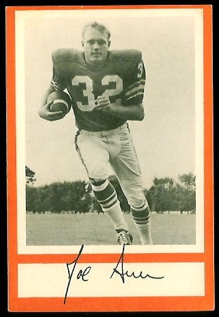 Joe Auer 1967 Royal Castle Dolphins football card