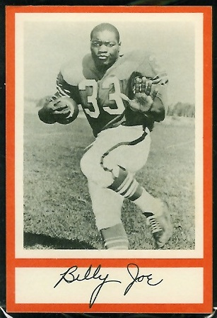 Billy Joe 1967 Royal Castle Dolphins football card
