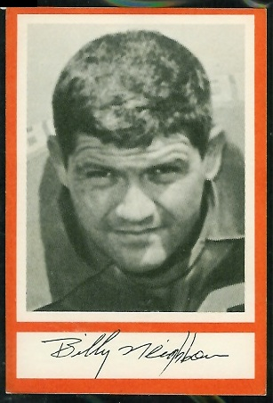 Bill Neighbors 1967 Royal Castle Dolphins football card