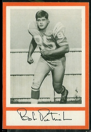 Bob Petrich 1967 Royal Castle Dolphins football card