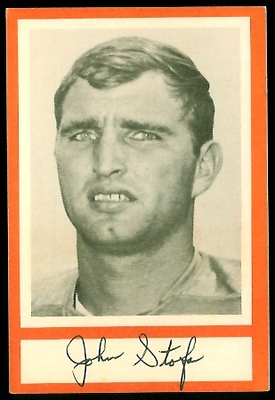 John Stofa 1967 Royal Castle Dolphins football card