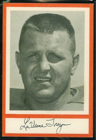 Laverne Torczon 1967 Royal Castle Dolphins football card